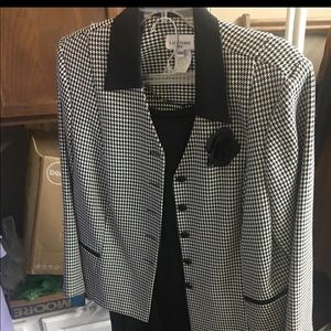 Houndstooth jacket with skirt